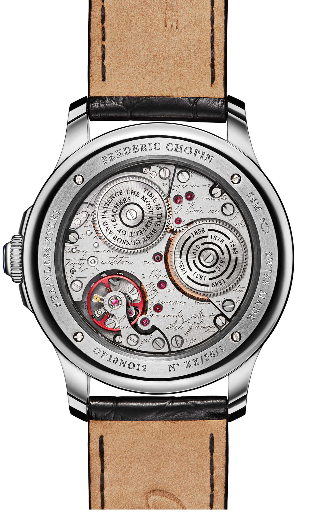 Chopin Watch Timepiece back